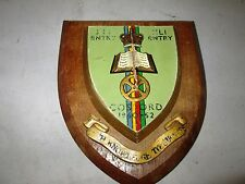 WOOD WALL PLAQUE ROYAL CORPS OF SIGNALS