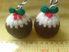 Christmas Decorations,  Puddings, Robin, Penguin, Santa etc Free Uk P&P