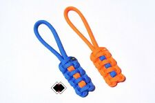 Florida FL Gator colors zipper pulls 550 paracord - handmade in USA