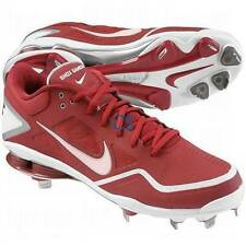 NWT $80-Mens Nike Shox Gamer Red Baseball Low Metal Cleats Shoes-sz 15 & 16