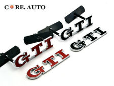 GTI Badge Sticker GTI Front Grille Grill Emblem Red/Black  Car Boot Fender