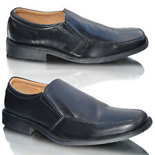 Mens Black Leather Casual Slip On Italian Smart Office Formal Dress Shoes Size
