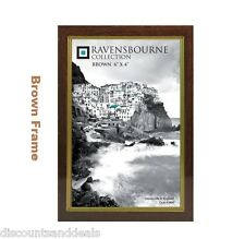 New Traditional Brown Wooden Photo Frame Stand or Hang The Picture