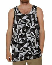 2014 NWT MENS LRG FUTURE IN FLIGHT TANK TOP $69 black white grey geometric