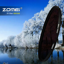 Zomei Infrared Filter 58mm IR Filter 680NM 720NM 760NM 850NM 950NM Optical Glass