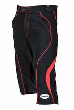 Zimco Pro MTB Mountain Bike Knicker Baggy Shorts W/Lycra Padded Liner Red/Black