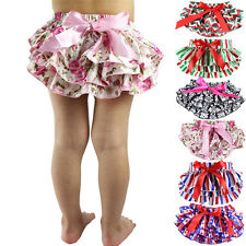 Baby Girl Pants Bowknot Bloomers Ruffle Tutu Culotte Diaper Nappy Cover PP Pants
