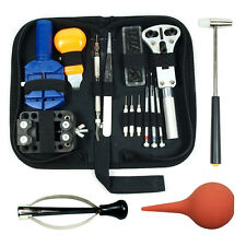 Watch Repair Tool Kit Opener Link Remover Spring Bar Free Hammer+ Case LOT