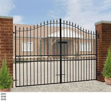 Tall Metal Driveway Bow Top Gates Corfe 6ft Tall x 7/ 8/ 9/10/11/12ft Opening