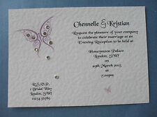 25 x PERSONALISED BUTTERFLY WEDDING/EVENING INVITATIONS