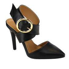RED CIRCLE AC54 Women's Buckle Ankle Strap Criss Cross Stiletto Dressing Heels