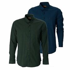 Gabicci Mens Check Shirt Button Down Collared Long Sleeve Casual Top S-XXL