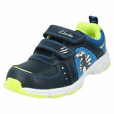 CLARKS Pass Roar Inf Boys Leather Trainers