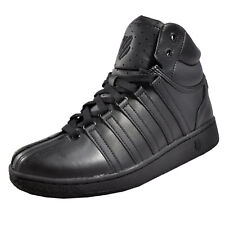 K Swiss Classic VN Vintage Mid Mens Casual Retro Leather Trainers All Black
