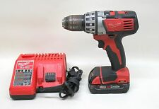 """Milwaukee M18 Cordless Li-Ion 1/2"""" Compact Drill Driver Tool w Battery & Charger"""