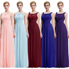 Sexy Sleeveless V-Back Chiffon Ball Gown Evening Prom Party Dress 8 Size US 2~16