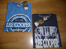 Mens Lee Cooper Regular Printed Marl Retro T Shirt Top Size M-XXL RRP £19.99