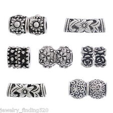 Wholesale Lots Mixed DIY Flower Charm Spacer Beads Fit Charm Bracelets