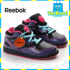REEBOK PUMPS GIRLS SHOES CUTE CLASSIC VERSA OMNI LITE INFANT SIZE 4 US