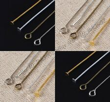 Wholesale 100Pcs Gold/Silver Plated Ball Head Eye Pins Jewelry Findings 16-70MM