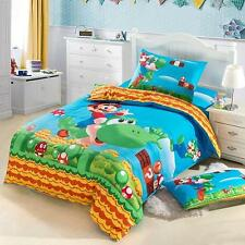 *** Super Mario Single Bed Quilt Cover Set - Flat or Fitted Sheet ***
