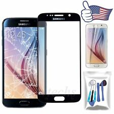 for Samsung Galaxy S6 Front Outer Screen Lens Glass Replacement Black Repair Kit