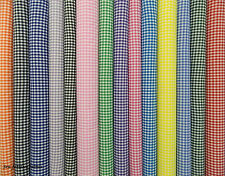 "¼"" GINGHAM CHECK POLYCOTTON  FABRIC  (FQ)"