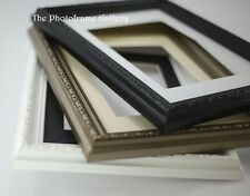 BLACK SHABBY CHIC ORNATE RETRO PICTURE FRAME PHOTO FRAME WITH MOUNT