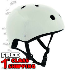 SFR Scooter/Skateboard/BMX/Inline/Quad/Derby/Skate Kids/Junior Helmet - White