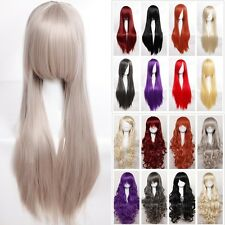 US Multiple Cosplay Wig 100% Synthetic Hair Anime Costume Full Head Wigs Curly