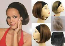SMOOTH PAGE ELASTIC HEADBAND FALL HAIRPIECE HAIRDO SHORT BOB HAIR EXTENSION JILL