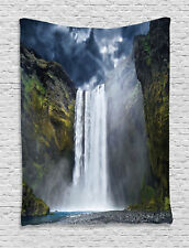 Waterfall Cliff in North America Force of Nature Art Print Wall Hanging Tapestry