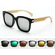 PP Hot Unisex  Bamboo Wooden Sunglasses Full Frame Aviator Goggles Eyewear UV400