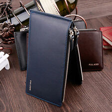 Men's Faux Leather ID credit Card Pockets Wallet holder Clutch Bifold Coin Purse