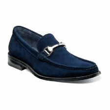 Stacy Adams Mens Dress Casual Shoes Flynn Navy Blue Genuine Suede Slip On