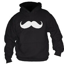 MOUSTACHE MO TASH FUNNY HOODIE SWEATSHIRT JUMPER CANCER CHARITY - ALL SIZES