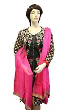 STITCHED PAKISTANI DESIGNER CHARIZMA EMBROIDERY SUIT - BLACK !