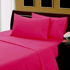 HOT PINK SOLID 1000TC EGYPTIAN COTTON BED LINEN-SHEET/DUVETS/FITTED ALL SIZES