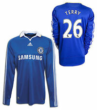 ADIDAS JOHN TERRY CHELSEA FC LONG SLEEVE HOME JERSEY 2008/09