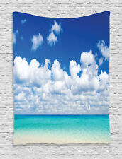 Tropical Hawaiian Style Exotic Sky Color Cloud Scenery Art Wall Hanging Tapestry