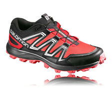Salomon Speedtrak Womens Red Black Trail Water Resistant Running Shoes Pumps