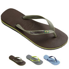 Mens Havianas Brasil Logo Rubber Thongs Open Toe Shoes Beach Flip Flops US 7-13