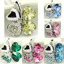 Flower Rhinestones Pendant Necklace Hotsale Jewelry Silver Chain Free Shipping
