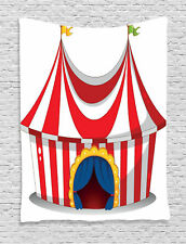 Retro Circus Tent and Flag Nostalgic Carnival Venue Print Wall Hanging Tapestry