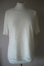 NEW - M&S - size 8 - 16 - gorgeous White/ Ivory ladies LACE TOP/ tunic - BNWoT