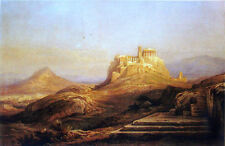 View of the Acropolis from the Pynx (classic art print of athens, greece)
