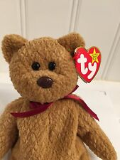 ~CURLY the Brown Teddy Bear plush toy TY BEANIE BABY Babies new RT NWT