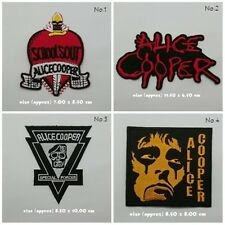 New Alice Cooper Sew On Patch Iron Embroidered Rock Band Heavy Metal Music Logo