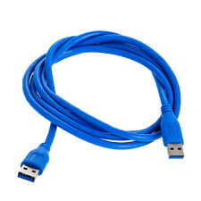 1.8m/ 6ft  3m/10ft USB 3.0 A Male to A Male Extension Data Sync Cord Cable Blue