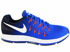 NEW MENS NIKE AIR ZOOM PEGASUS 33 RUNNING SHOES TRAINERS RACER BLUE / MIDNIGHT